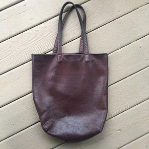 Baggu leather tote purple $180